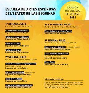 Cursos de Verano 2021 Teatro de las Esquinas