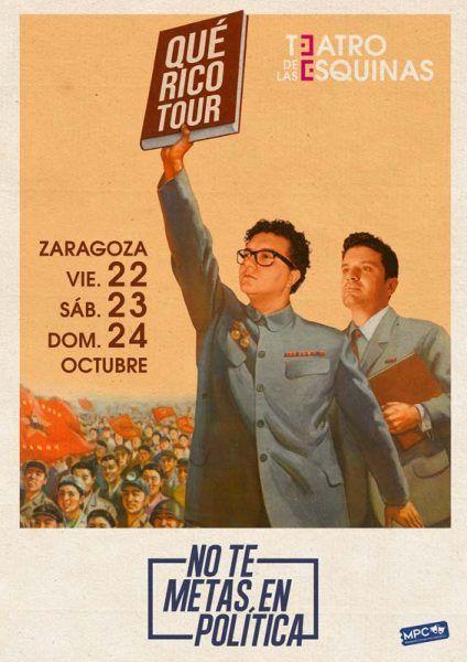 No te metas en política en Zaragoza en el Teatro de las Esquinas