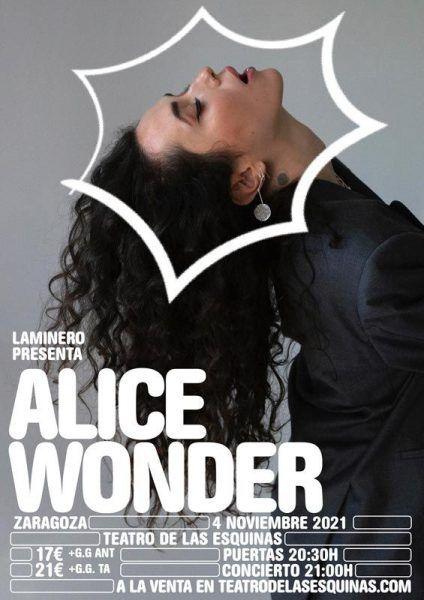 Alice Wonder en Zaragoza en el Teatro de las Esquinas