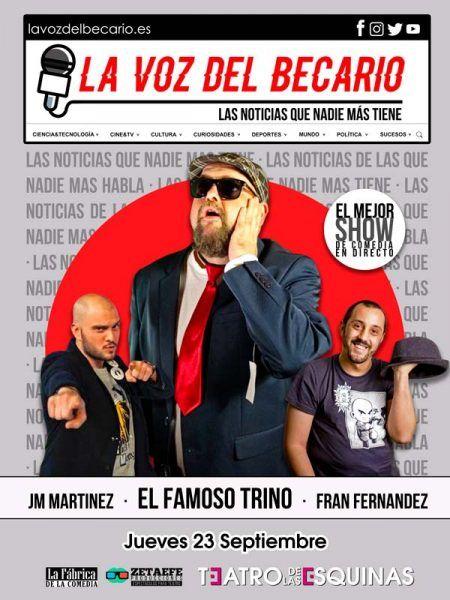 Las voz del becario show en Zaragoza